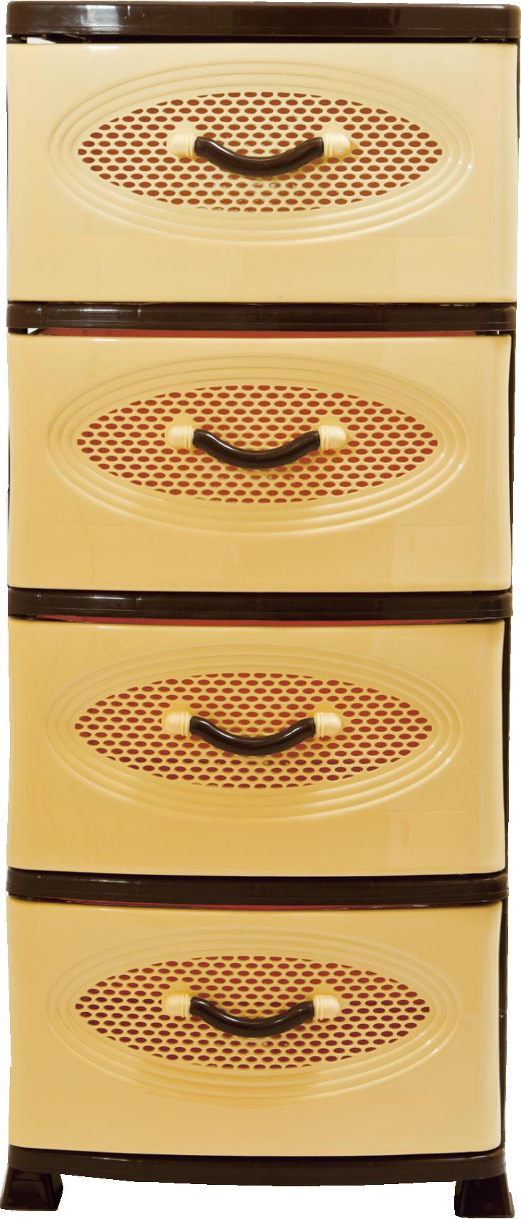 Комод Эирбокс 4-х секционный бежево-коричневый