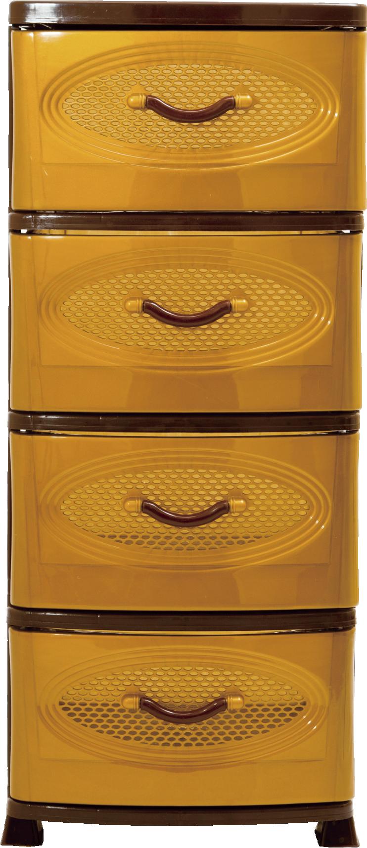 Комод Эирбокс 4-х секционный золото-коричневый