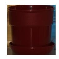 Горшок для цветов с поддоном 1,2л. терракотовый