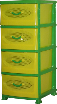 Комод Эирбокс 4-х секционный желто-зеленый