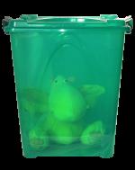 """Контейнер """"Премиум"""" с/к  14,5л. прозрачный зеленый"""