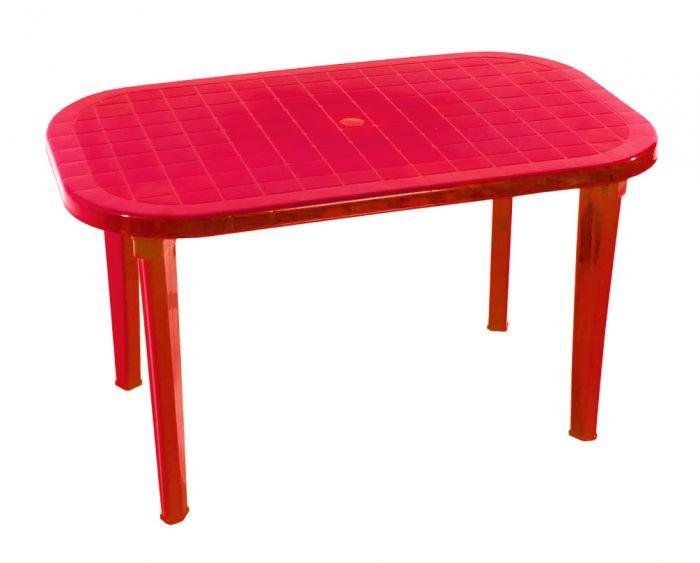 Стол овальный «Романтик» красный