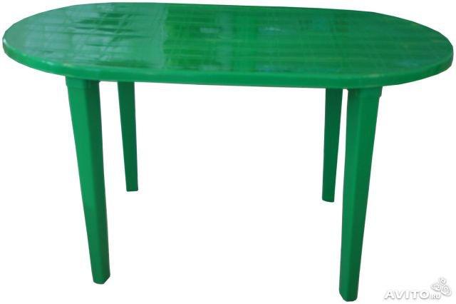Стол овальный «Романтик» темно-зеленый