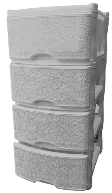 Комод 4-х секционный «ПАУТИНКА» серый
